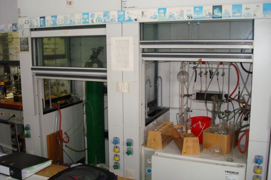 Begehbarer Laborabzug