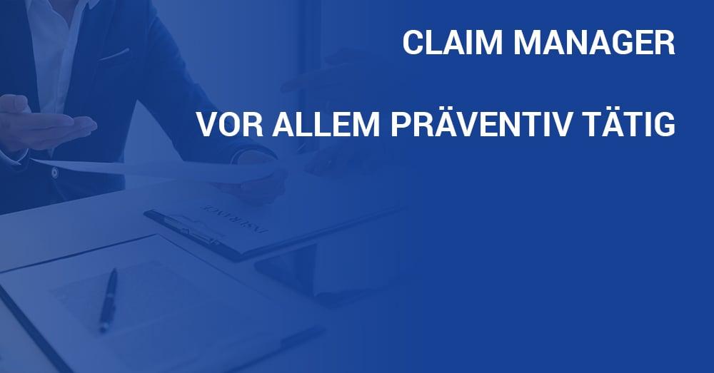Jobportrait Claim Manager