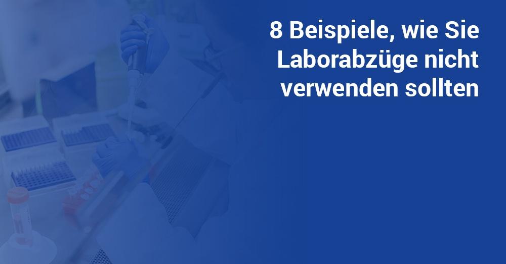 Laborabzüge Anwendung